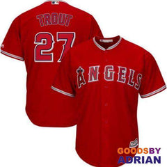 LA Angels Jersey's #27 Mike Trout Jersey-Baseball Jersey - GoodsByAdrian