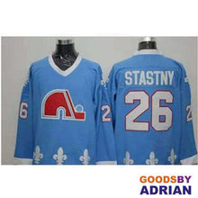 Load image into Gallery viewer, Quebec Nordiques Throwback Jerseys Hockey Joe Sakic, Matts Sundin, Peter Forsberg, Peter Stastny-Jersey - GoodsByAdrian