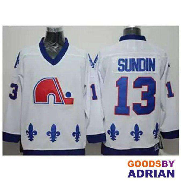Quebec Nordiques Throwback Jerseys Hockey Joe Sakic, Matts Sundin, Peter Forsberg, Peter Stastny-Jersey - GoodsByAdrian