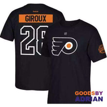 Load image into Gallery viewer, 2017 NHL Philadelphia Flyers 28 Claude Giroux 9 Ivan Provorov 53 Shayne Gostisbehere 11 Konecny Name & Number T-Shirt Youth-Hockey T-Shirts - GoodsByAdrian