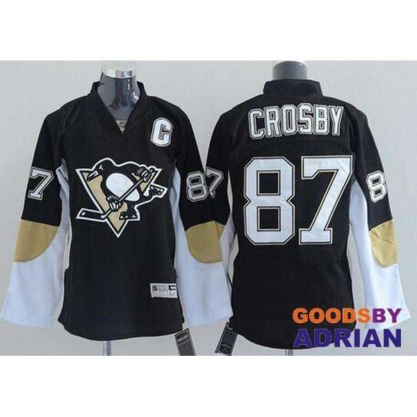 Sidney Crosby Jersey Men's Penguins #87 Black Yellow Blue White Stitched Embroidery Hockey Jerseys-Hockey Jerseys - GoodsByAdrian