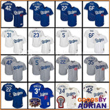 LA Los Angeles Dodgers World Series 2017 Stitched Jerseys Kershaw, Seager, Bellinger, Puig, Turner-Baseball Jerseys - GoodsByAdrian