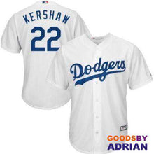 Load image into Gallery viewer, LA Dodgers #22 Clayton Kershaw Replica Majestic Jersey, Breathable Mens, Dry-Baseball Jersey - GoodsByAdrian