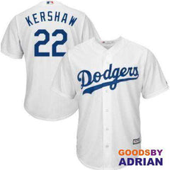 LA Dodgers #22 Clayton Kershaw Replica Majestic Jersey, Breathable Mens, Dry-Baseball Jersey - GoodsByAdrian