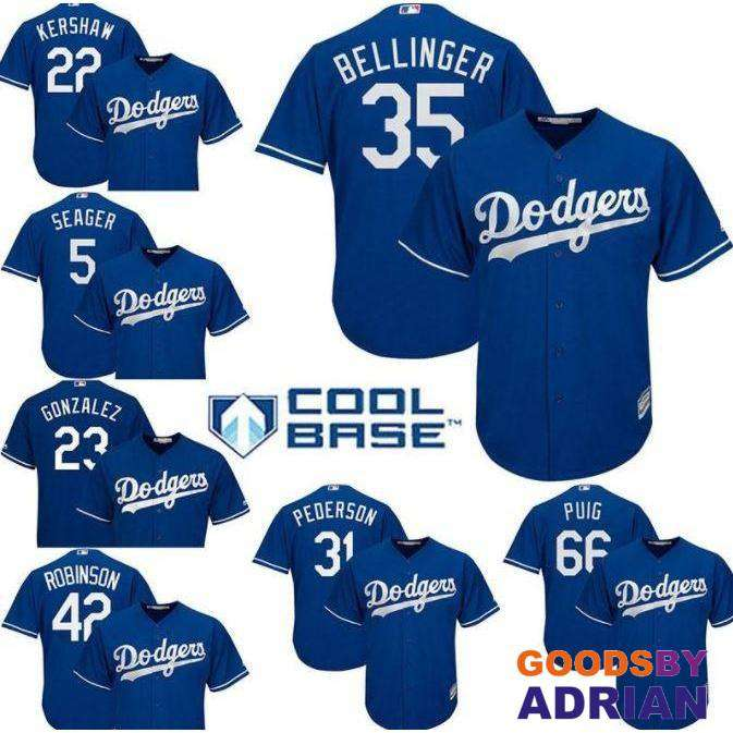 the best attitude 64103 c827b LA Los Angeles Dodgers World Series Stiched Jerseys
