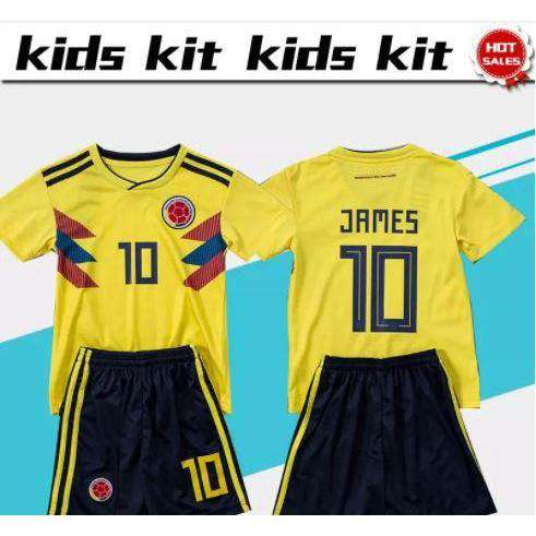 pretty nice 2a0ee 159d3 2018 Youth World Cup Colombia soccer Jersey and shorts #10 JAMES futbol  uniform