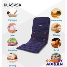 Load image into Gallery viewer, KLASVSA Electric Vibrator Massager Mattress Far-Infrared Heating Therapy Neck Back Massage Relaxation Bed Vibrador Health Care- - GoodsByAdrian
