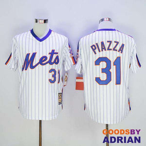 official photos 33b67 cdbeb New York Mets Throwback Baseball Jersey 31 Mike Piazza 45 Pedro Martinez  Cooperstown 2016