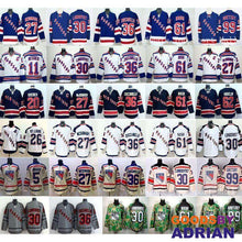 Load image into Gallery viewer, New York Rangers Hockey Jerseys Henrik Lundqvist Rick Nash Derick Brassard Ryan McDonagh Zuccarello-Hockey Jerseys - GoodsByAdrian