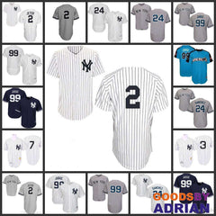 New York Yankees Jersey 2 Derek Jeter, 24 Gary Sanchez, 99 Aaron Judge, 7 Mickey Mantle, Babe Ruth-Baseball Jerseys - GoodsByAdrian