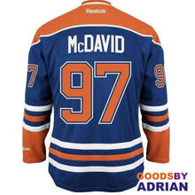 Load image into Gallery viewer, Stitched Edmonton Oilers Men's Connor McDavid Blue/Orange, Pro Jerseys-Hockey Jerseys - GoodsByAdrian