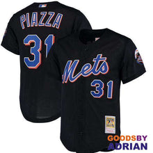 Load image into Gallery viewer, New York Mets Throwback Baseball Jersey 31 Mike Piazza 45 Pedro Martinez Cooperstown 2016-Baseball Jerseys - GoodsByAdrian