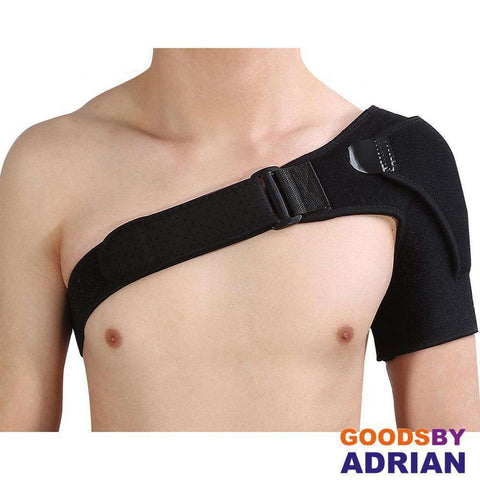 Professional Shoulder Brace with Pressure Pad for Hot Cold Therapy Ice Pack Pain Injury Shoulder Posture Corrector Strap- - GoodsByAdrian