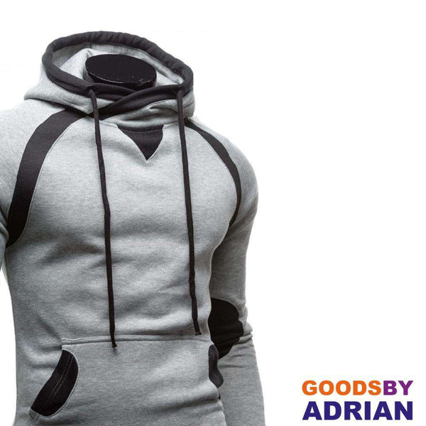 Men Winter Slim Hoodie Warm Pullover Sweatshirt Hooded Coat Outwear-Hoodie - GoodsByAdrian