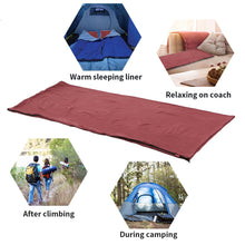 Load image into Gallery viewer, Warmth Insulation Liner Zippered Fleece Sleeping Bag
