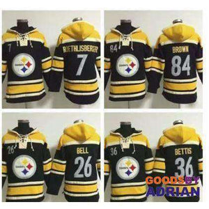 Men's Pittsburgh Fleece Hoodies, Sweatshirts Roethlisberger Bell Bettis Troy Polamalu Antonio Brown-Hoodie - GoodsByAdrian