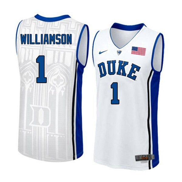 NCAA Duke Blue Devils Zion Williamson, RJ Barrett Jerseys, Cam Reddish