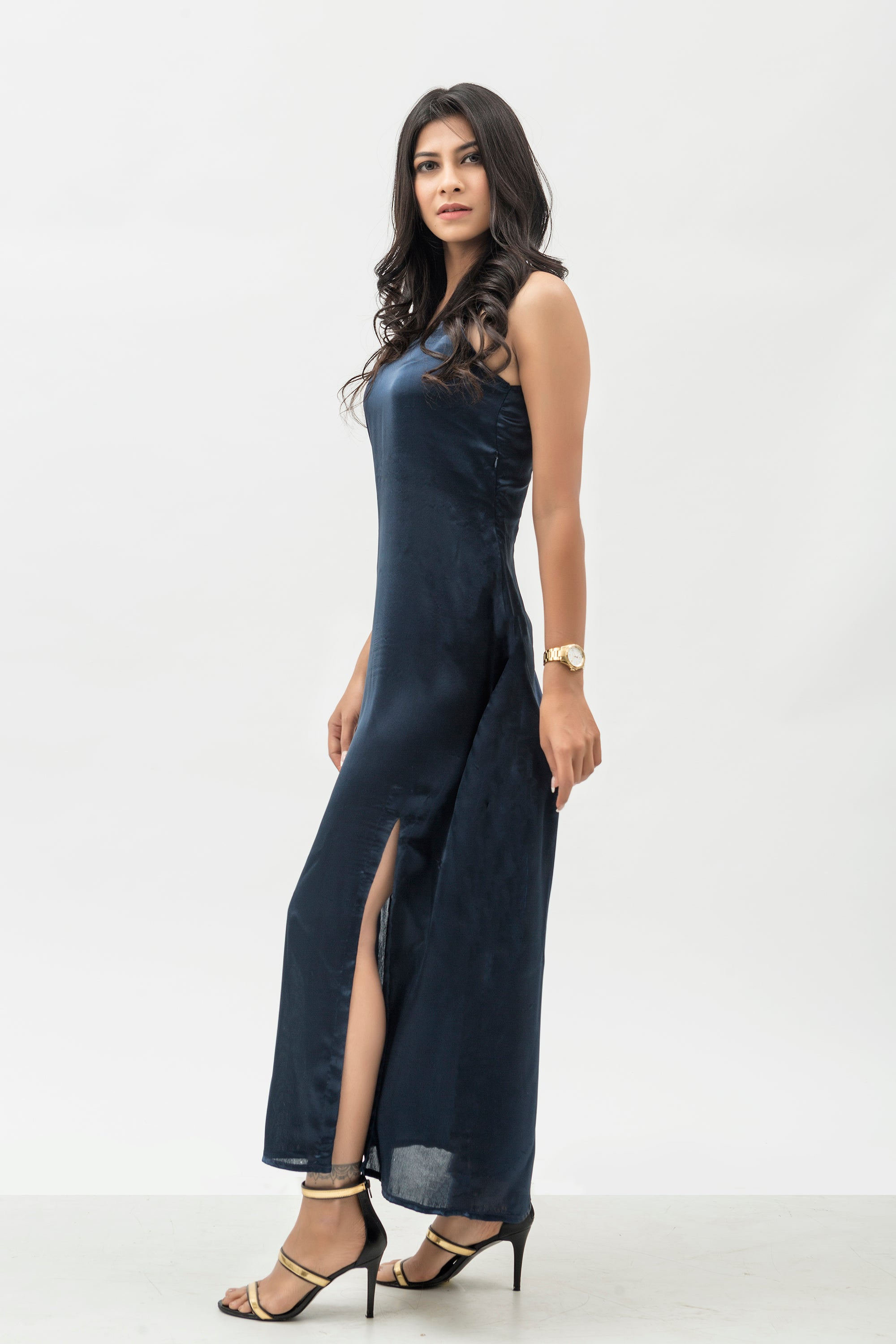 Midnight Silk Slip