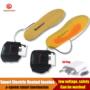 3800MAH Smart Electric Heated Insoles,Winter Warm Outdoor Sport Ride Skiing EVA Insoles Lithium Battery Self Heating 36-46 yards - Elliott's Outdoor Store