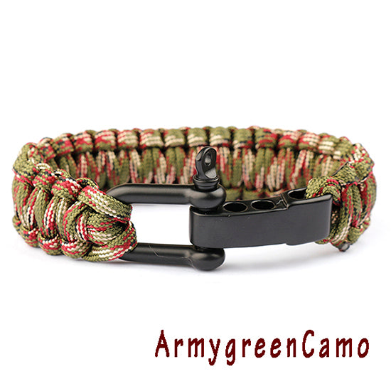 Braided  Emergency ParaCord Survival Bracelets