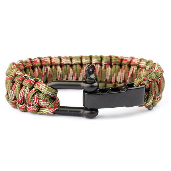 Braided  Emergency ParaCord Survival Bracelets - Elliott's Outdoor Store