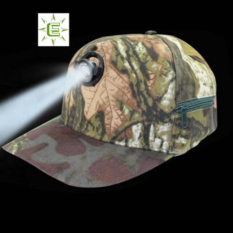 Camouflage Baseball Cap with built in LED Light