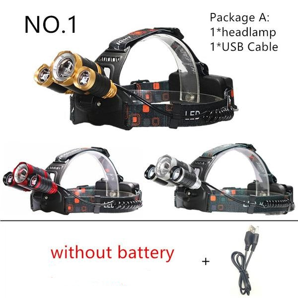 Powerful 12000lm Led Rechargeable Headlamp Flashlight - Elliott's Outdoor Store