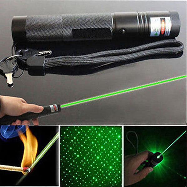 High Power Green 303 Laser Flashlight with 2 Safe Keys - Elliott's Outdoor Store
