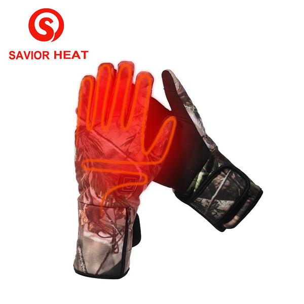 SAVIOR HEATWaterproof Electric Heating Gloves Keep Warm Flexible Soft Gloves Rechargeable 7.4V Battery Heat Smart Glove - Elliott's Outdoor Store