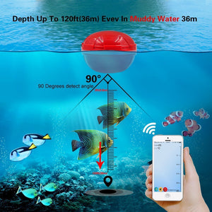 Portable Wireless Sonar Fish Finder for Bluetooth iOS Android