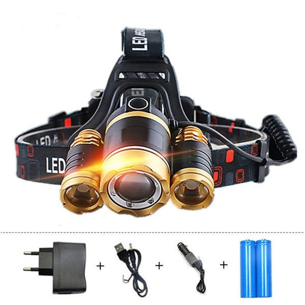 Powerful 12000lm Led Rechargeable Headlamp Flashlight