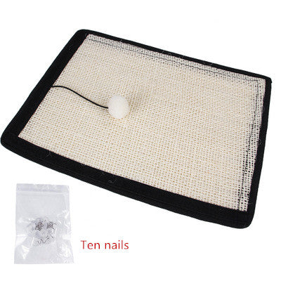 Cat scratch mat for the ultimate furniture protection