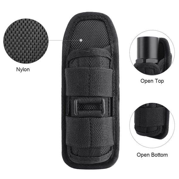 Tactical 360 Degrees Rotatable Flashlight Pouch - Elliott's Outdoor Store