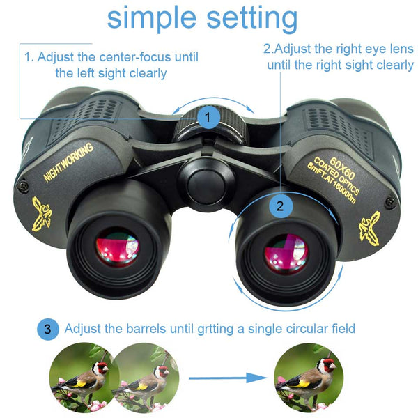 Binoculars with Outstanding Range and Performance 60x60 3000M Low Light Vision - Elliott's Outdoor Store