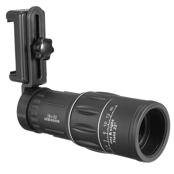 16x52 Zoom Mobile Phone Universal Telescope with Smartphone Adapter - Elliott's Outdoor Store