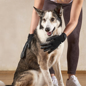 1 Pair #1 Ranked, Award Winning Deshedding Pet Grooming Gloves