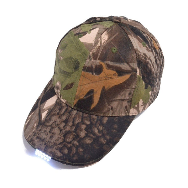 Camouflage Hunting Cap with built in light - Elliott's Outdoor Store