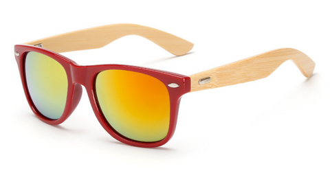 Bamboo Sunglasses - Red Frame