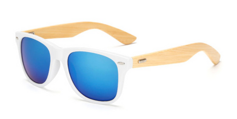 Bamboo Sunglasses - White Frame