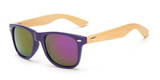 Bamboo Sunglasses - Purple Frame