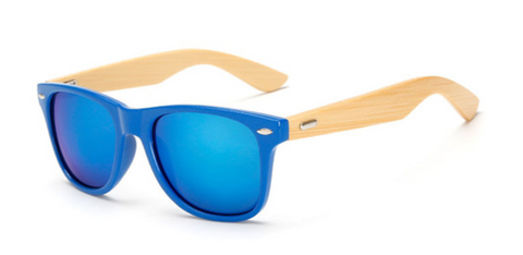 Bamboo Sunglasses - Blue Frame