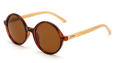 Bamboo Sunglasses - Turtle Shell Frame Tea Lens