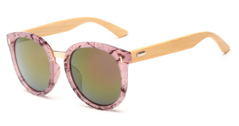 Bamboo Sunglasses - Pink Variant Frame Pink Lens