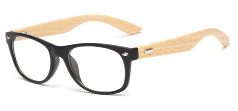 Bamboo Sunglasses - Clear Lens