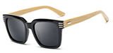 Bamboo Sunglasses - Black Frame Grey Lens