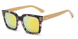 Bamboo Sunglasses - Purple Frame Gold Lens