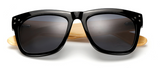 Bamboo Sunglasses Black Frame Grey Lens
