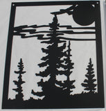 3 Piece Moose and Forest Scene Metal Wall Art
