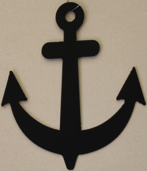 Anchor Metal Wall Art Flat Black Finish