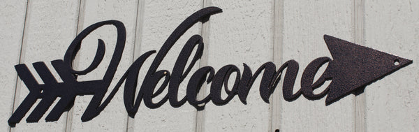 Arrow Welcome Sign Metal Wall Art
